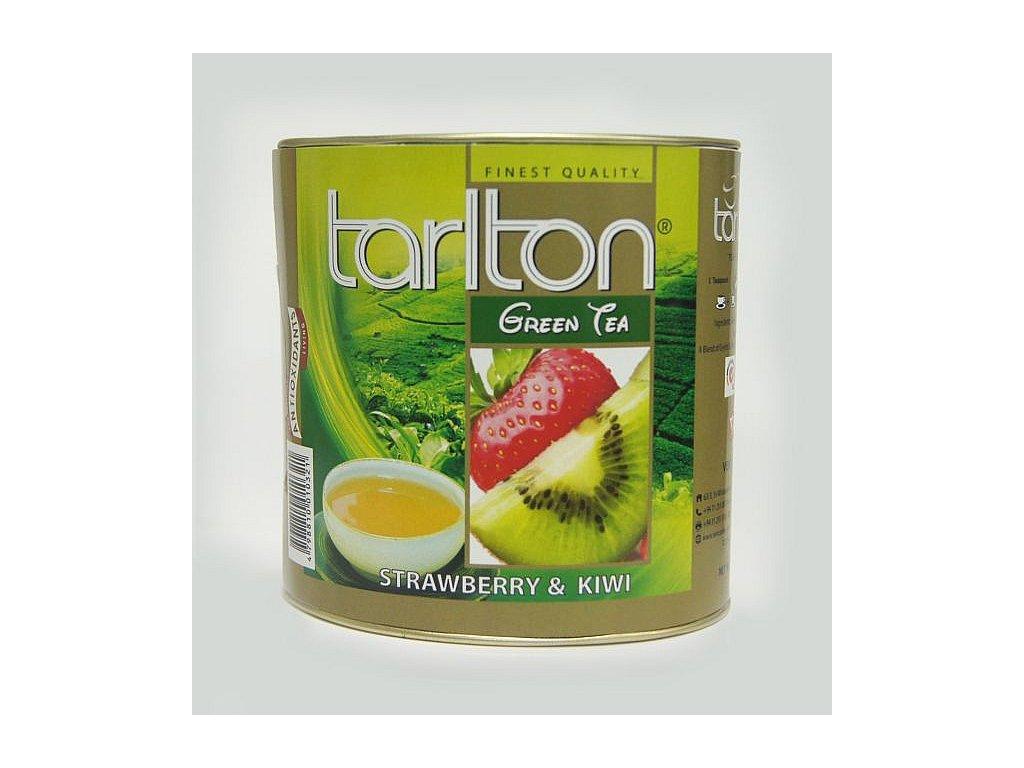 Tarlton Zelený sypaný čaj Jahoda Kiwi 100g