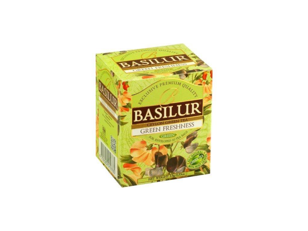 Basilur Bouguet Green Freshness Zelený ochucený čaj 10x1,5g