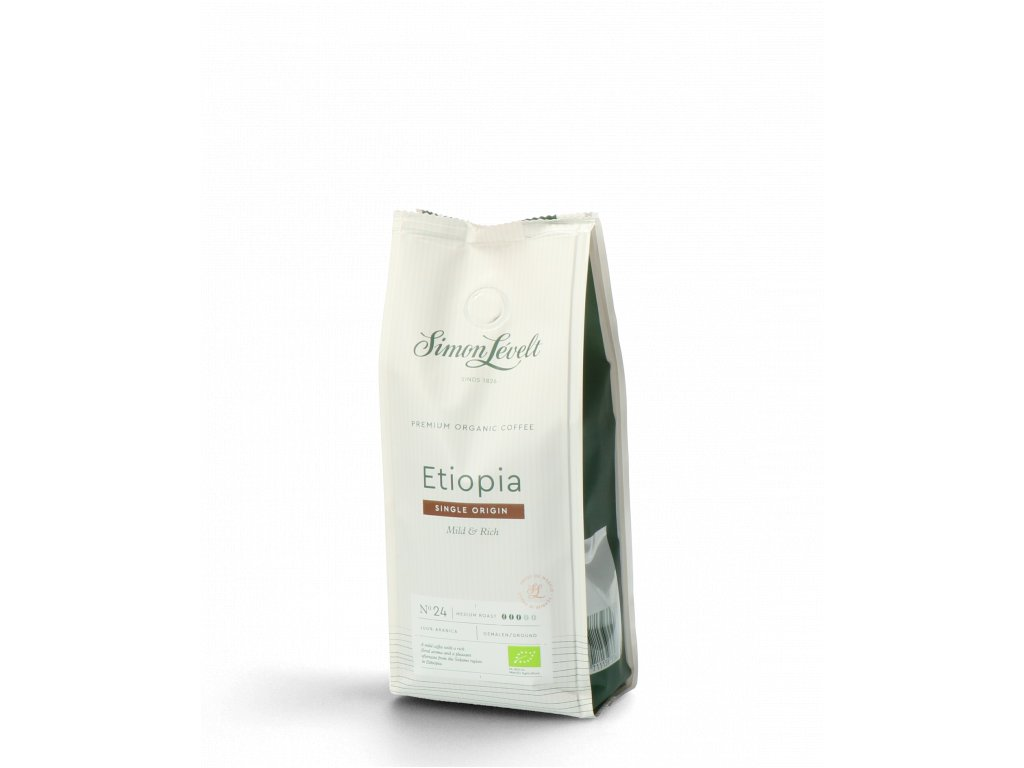 Simon Lévelt plantážní káva Ethiopie BIO mletá 250 g