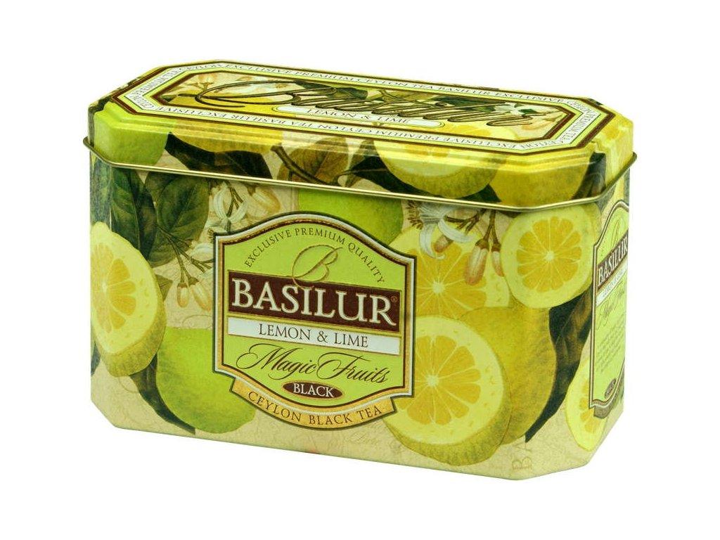 Basilur Magic Fruit Lemon & Lime plech 20x2g