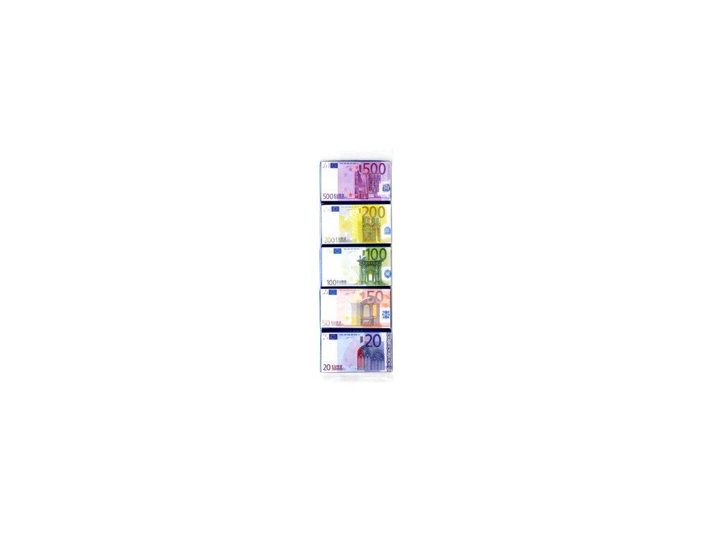 Euro bankovky mléčná čokoláda 5x15g