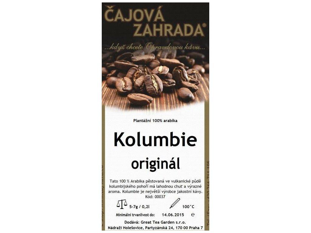 Čajová zahrada Mletá káva Kolumbie sáček 200g