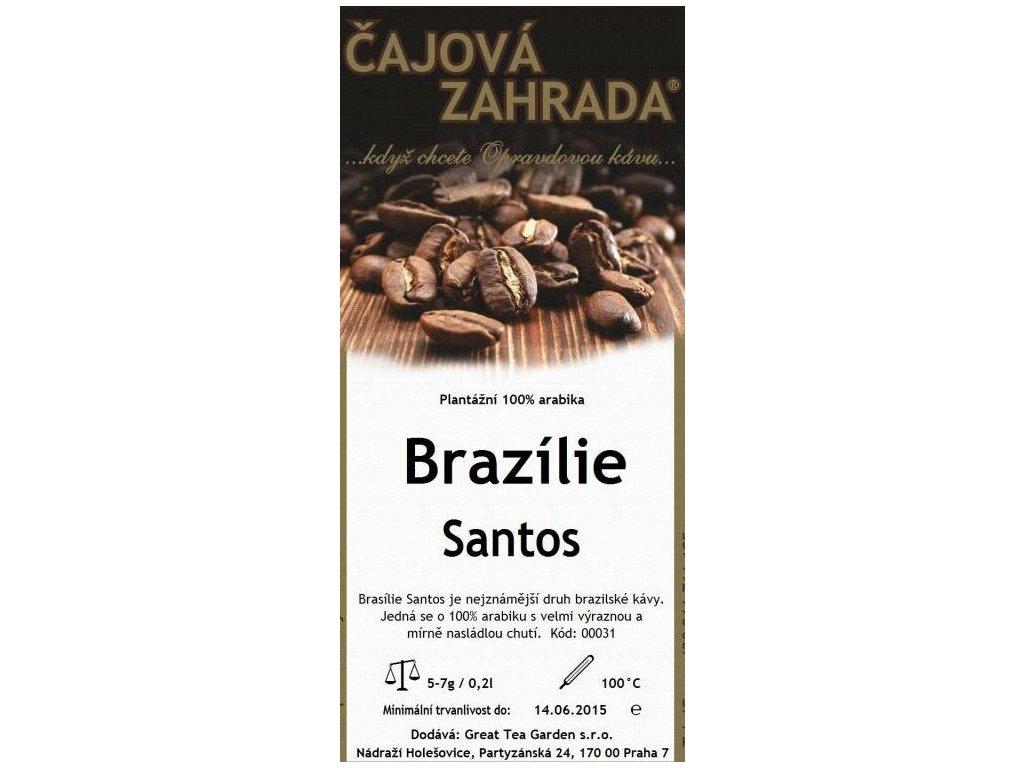 Santos mletá káva Brazílie sáček 200g