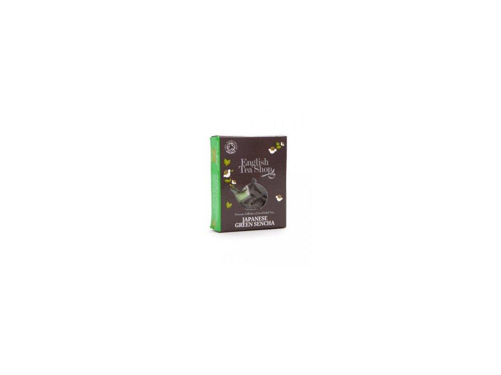 Bio Zelený čaj Japanese Sencha jednotlivá pyramidka v krabičce