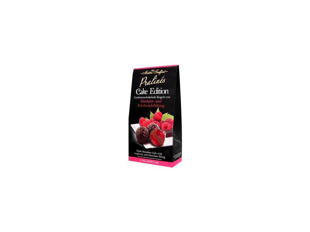 Maitre Truffout pralinky z hořké čokolády s malinami 'Cake Edition' 148g