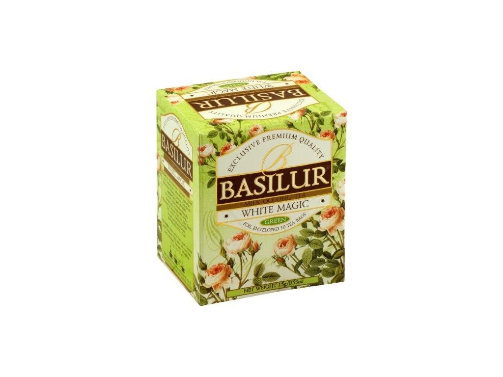 Basilur Zelený čaj White Magic 10x1,5g