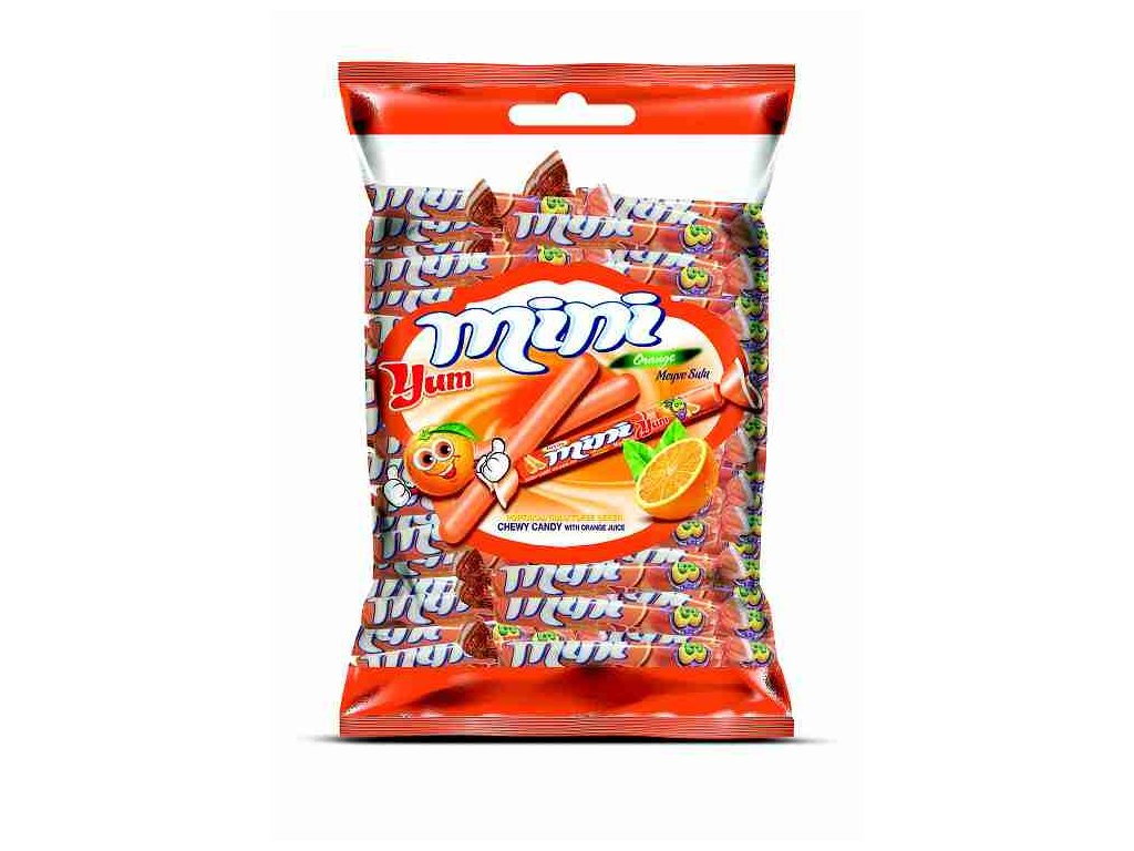 Mini Yum žvýkací karamelky s příchutí coly 700g (cca 103ks)