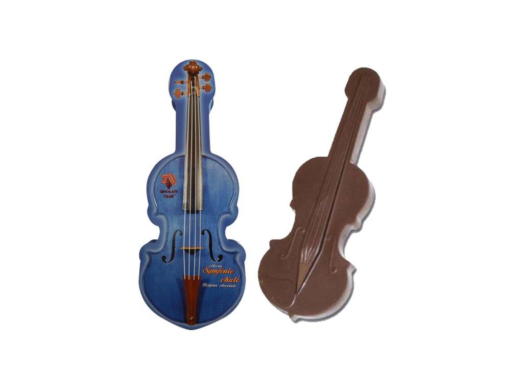 Čokoládové housle modré 200g