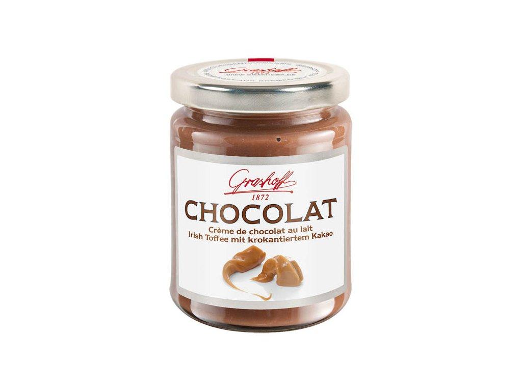 Grashoff Mléčný čokoládový krém s kakaovými křupinkami a vůní karamelu 250g