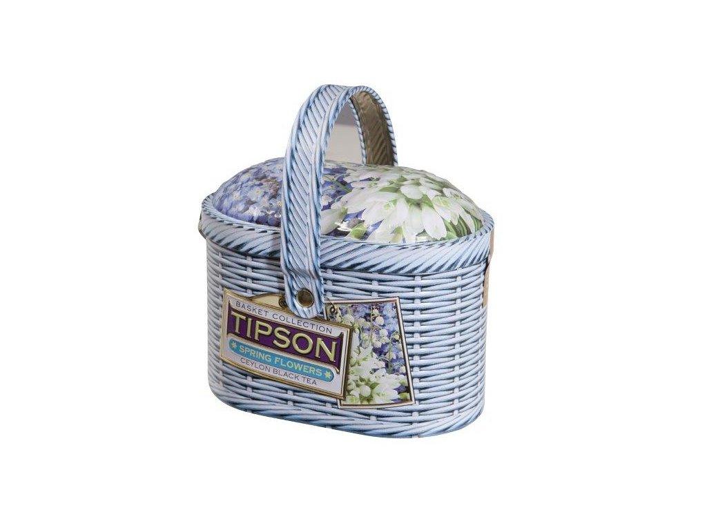 Tipson Basket Spring Flowers černý čaj 100g