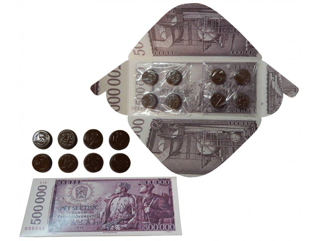 Čokoládová bankovka 500 000 Kč 60g