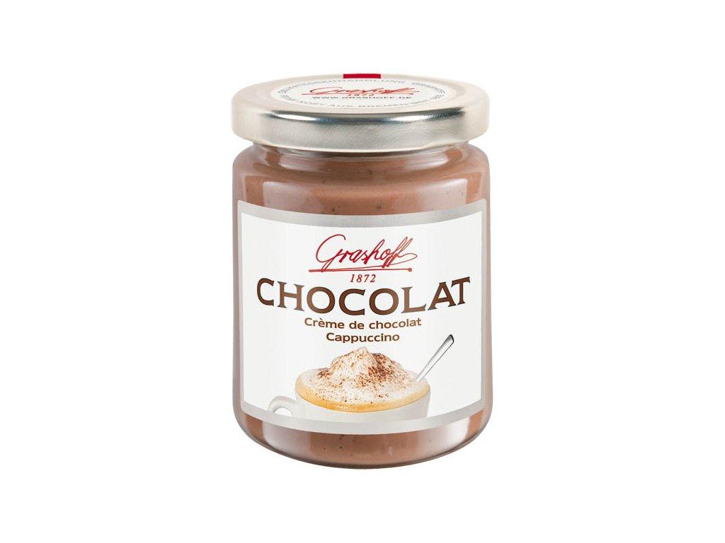 Grashoff mléčný čokoládový krém 'Cappuccino', sklo, 250g