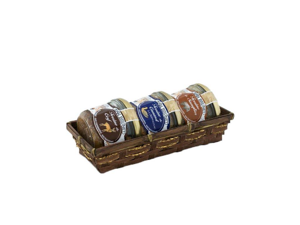 Jean Brunet Dárkový koš Myslivecké trio 3x180g