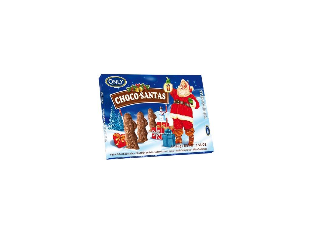 Only Choco Santas mléčná čokoláda ve tvaru Santy 100g