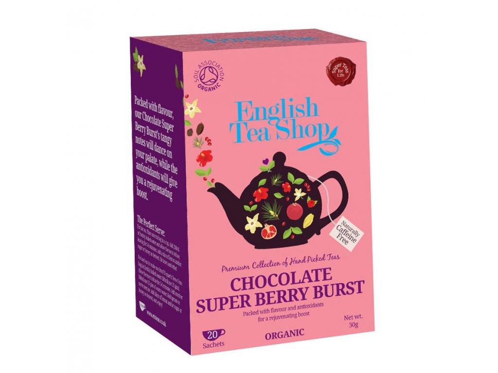 English Tea Shop čaj Příval čokolády a super ovoce 20x1,5g