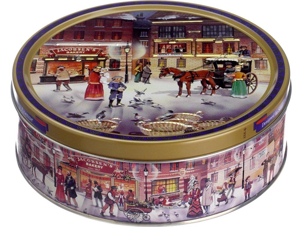 Jacobsens Bakery máslové sušenky v plechové dóze Avenue 400g Záruka min.trv.1.1.22