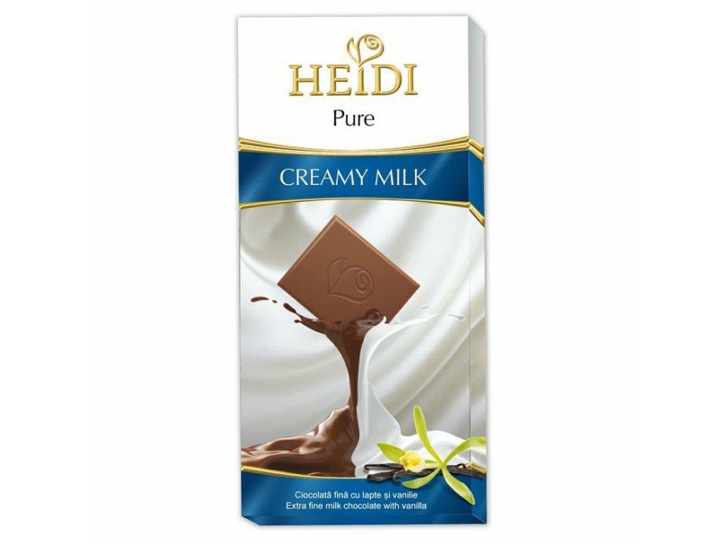 Heidi Pure Creamy Milk Jemná Mléčná čokoláda 80g