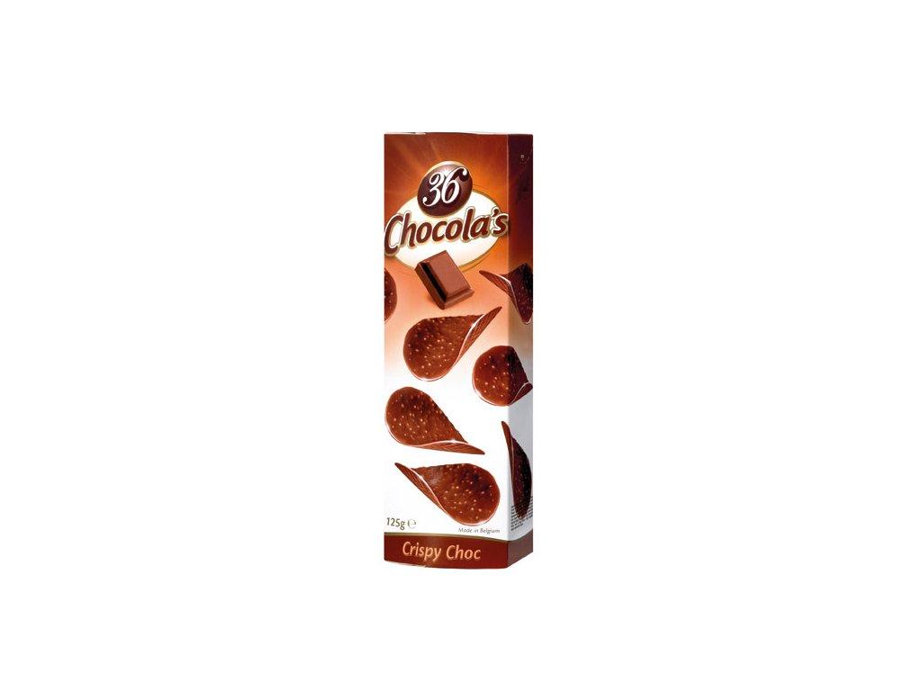 Hamlet Chocola's Crispy Choc mléčné čokoládové lupínky 125g