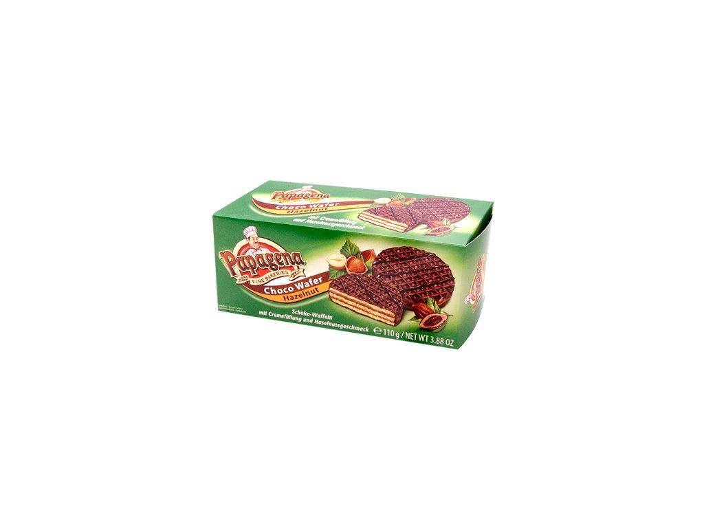 Wafle s krémovou lískooříškovou náplní zalité čokoládou 110g