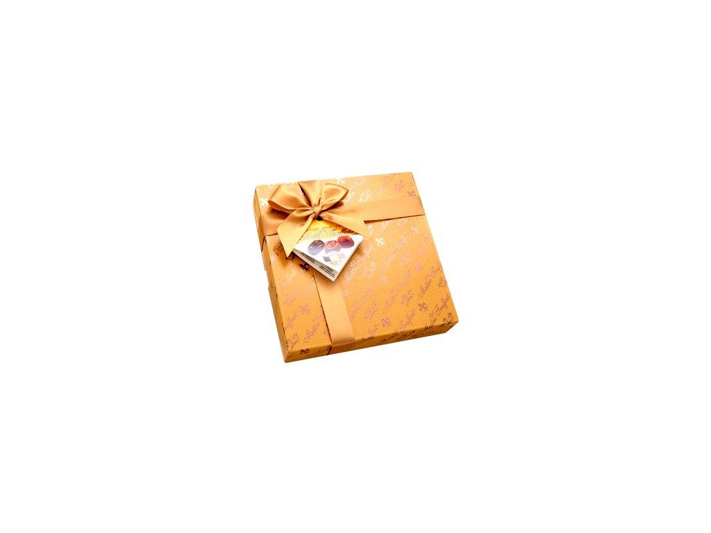 Maitre Truffout směs vybraných pralinek v elegantním zlatém balení 200g