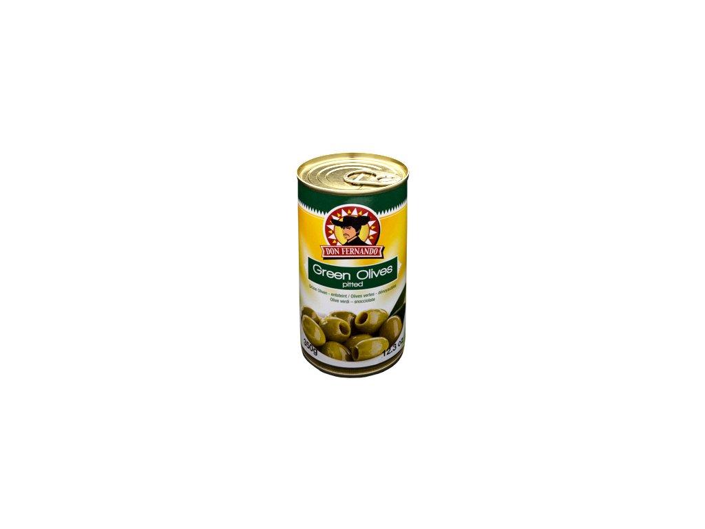Zelené olivy neplněné 350ml