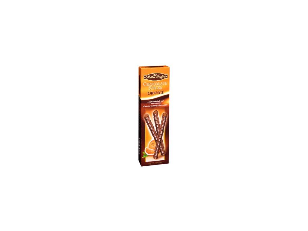 Maitre Truffout čokoládové pomerančové tyčinky 75g