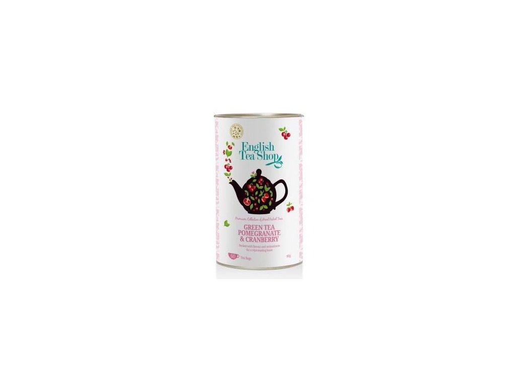English Tea Shop ZELENÝ ČAJ, GRANÁTOVÉ JABLKO A BRUSINKA 60 sáčků