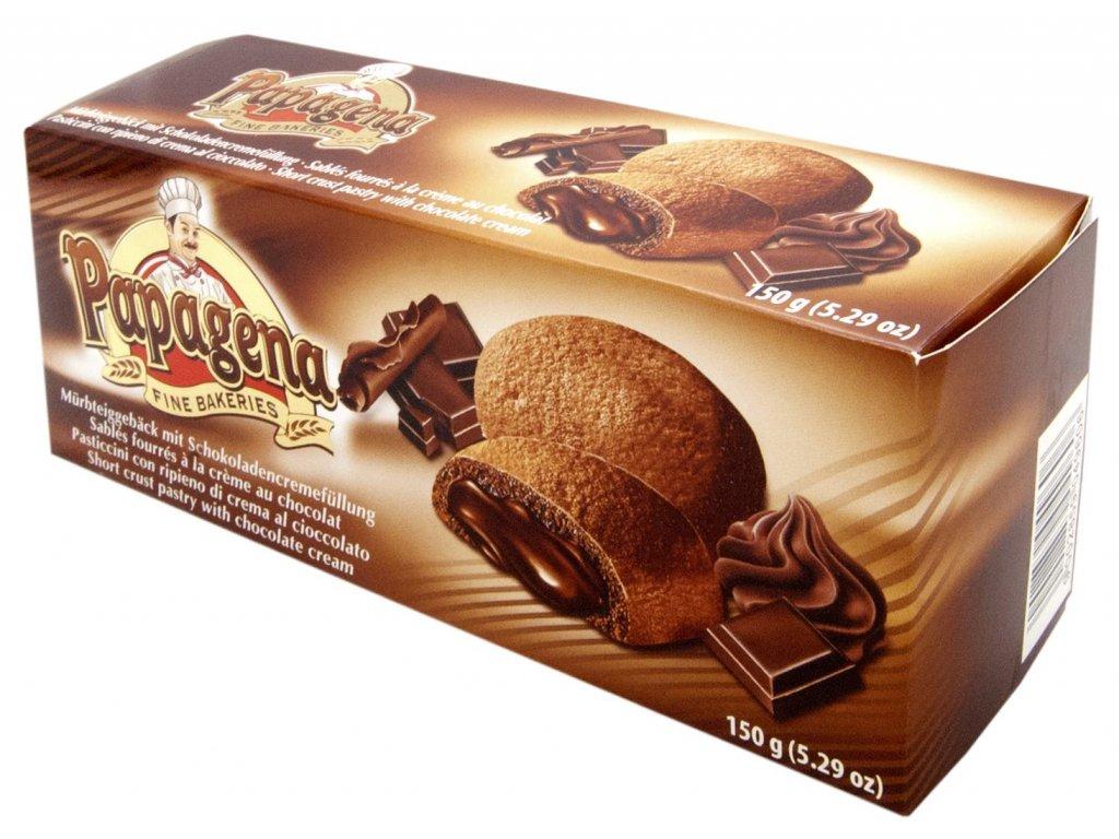 Papagena sušenky plněné kakaovým krémem 150g