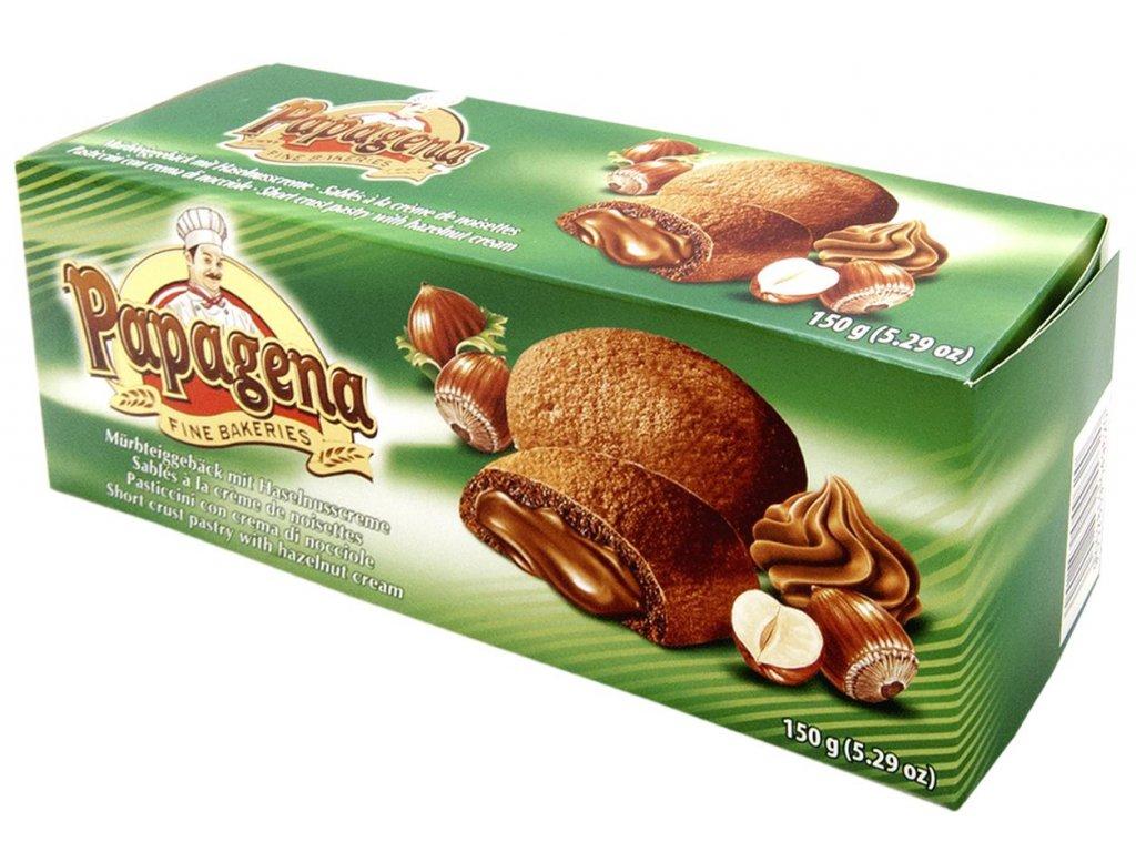 Papagena sušenky s lískooříškovou náplní 150g