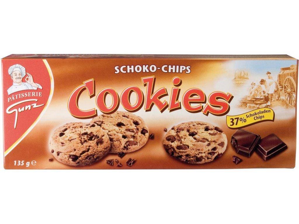 Cookies Schoko-chip Sušenky s kousky čokolády 135g min.trv. 30.5.2020