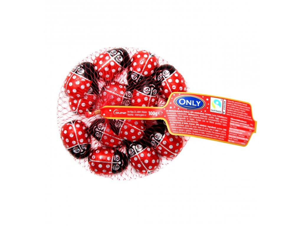 Only beruška čokoládová v síťtce 100g cca 13ks