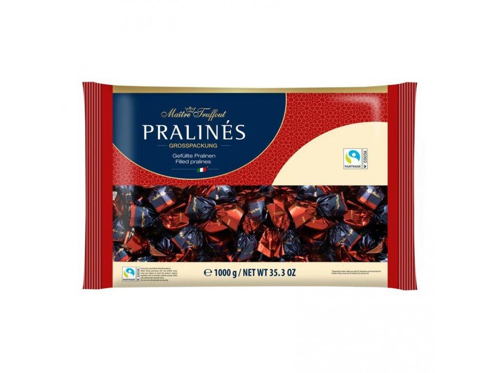 Maitre Truffout Cherry Pralinky z hořké čokolády s višní 1000g