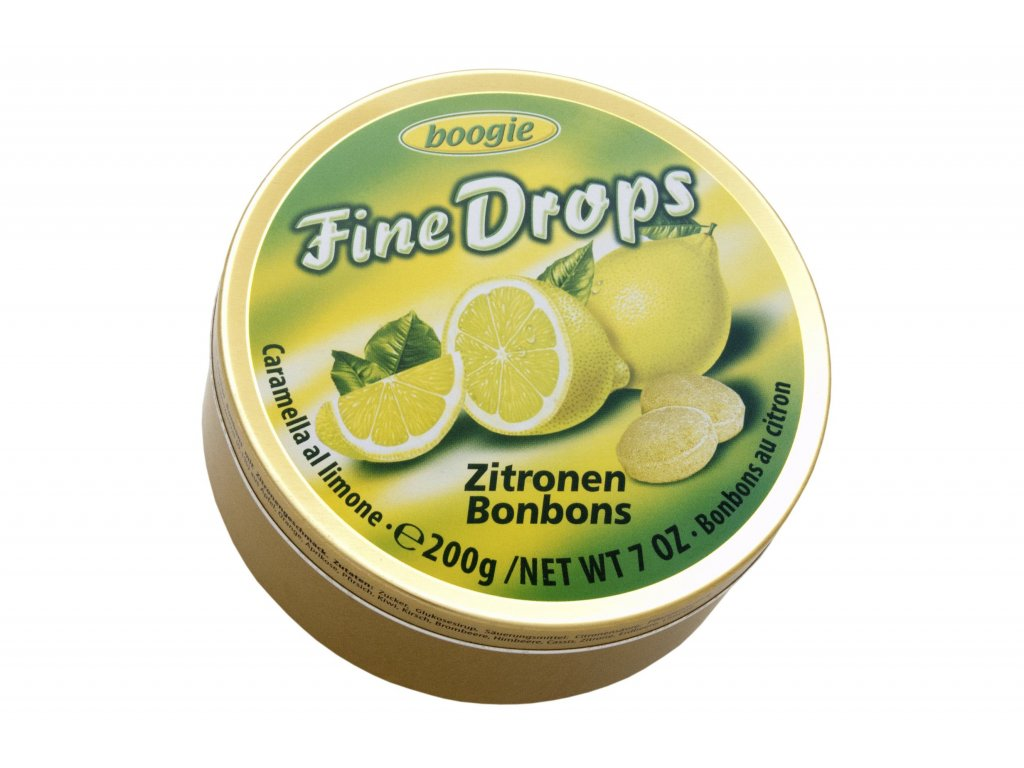 Woogie bonbóny ovocné citrónové plechová dóza 200g