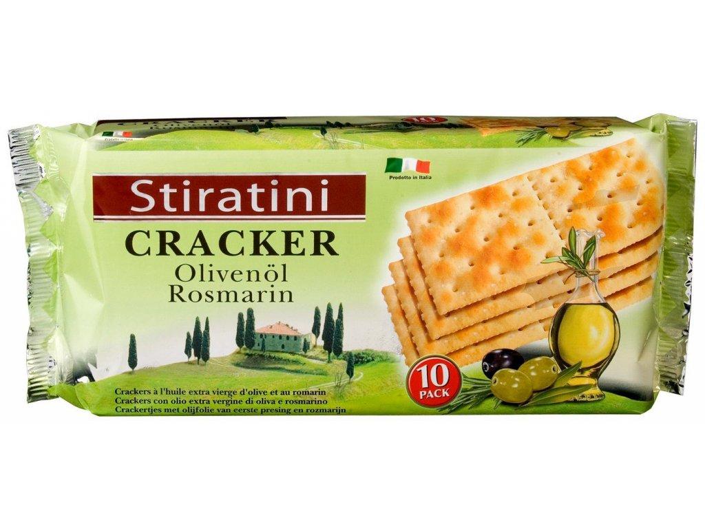 Stiratini cracker s olivami a rozmarýnem 250g
