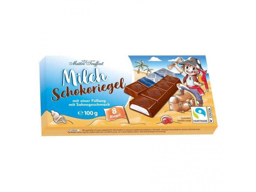 Čokoláda Mléčná čokoláda pro děti plněná smetanovou náplní 100g