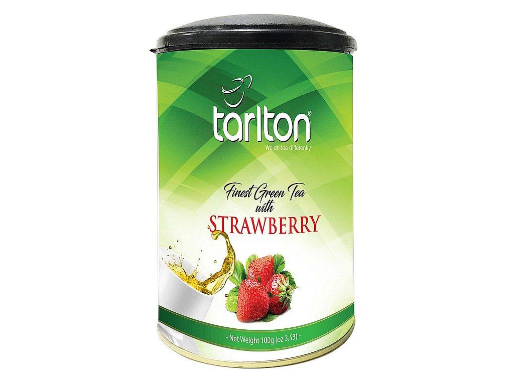 Tarlton zelený čaj Jahoda dóza 100g