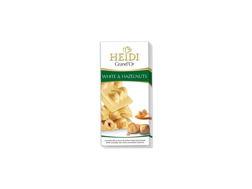 Heidi bílá čokoláda s karamelizovanými ořechy 100g