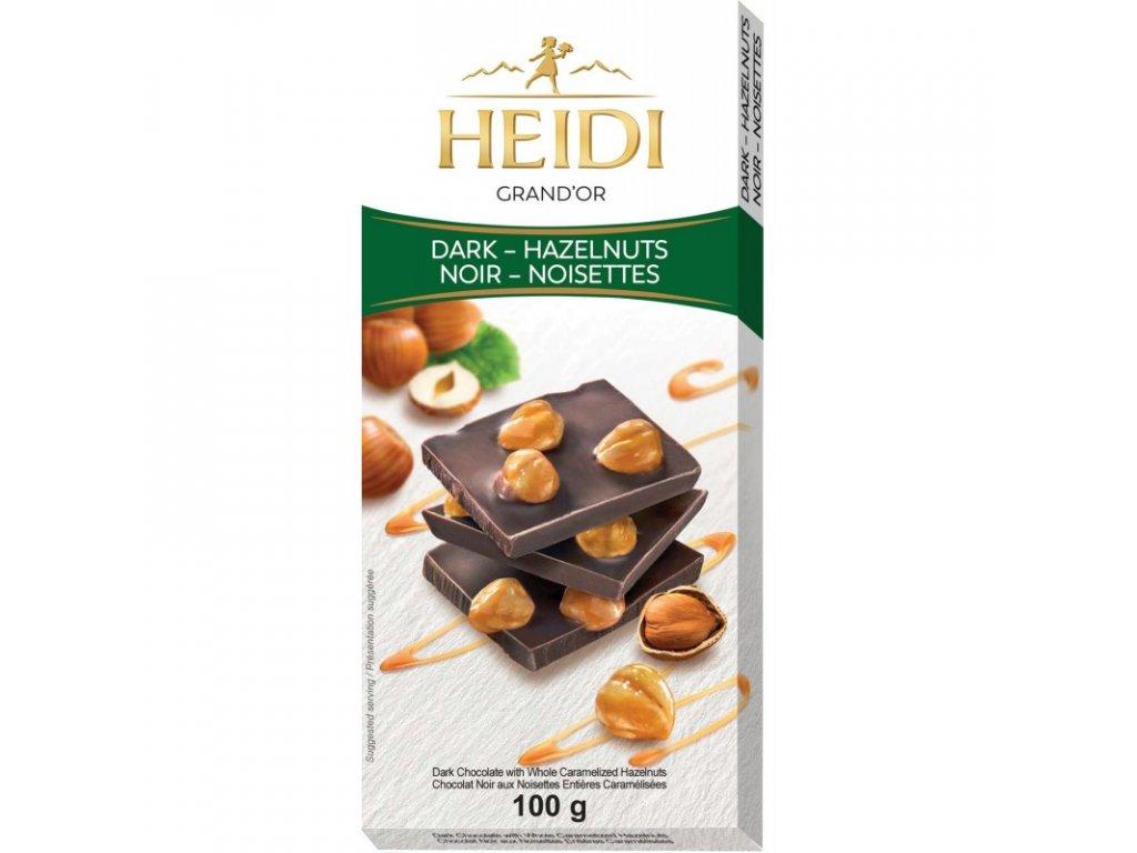 Heidi hořká čokoláda karamelizované ořechy 100g