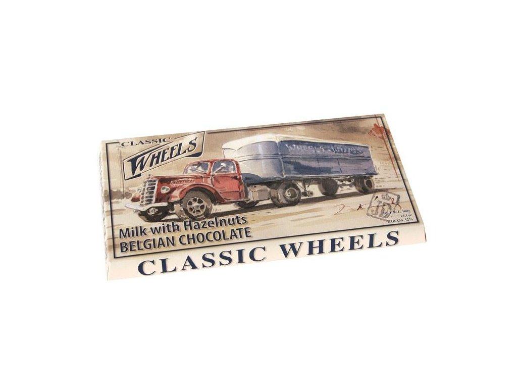 Starbrook Wheels mléčná čokoláda s celými lískovými ořechy 400g