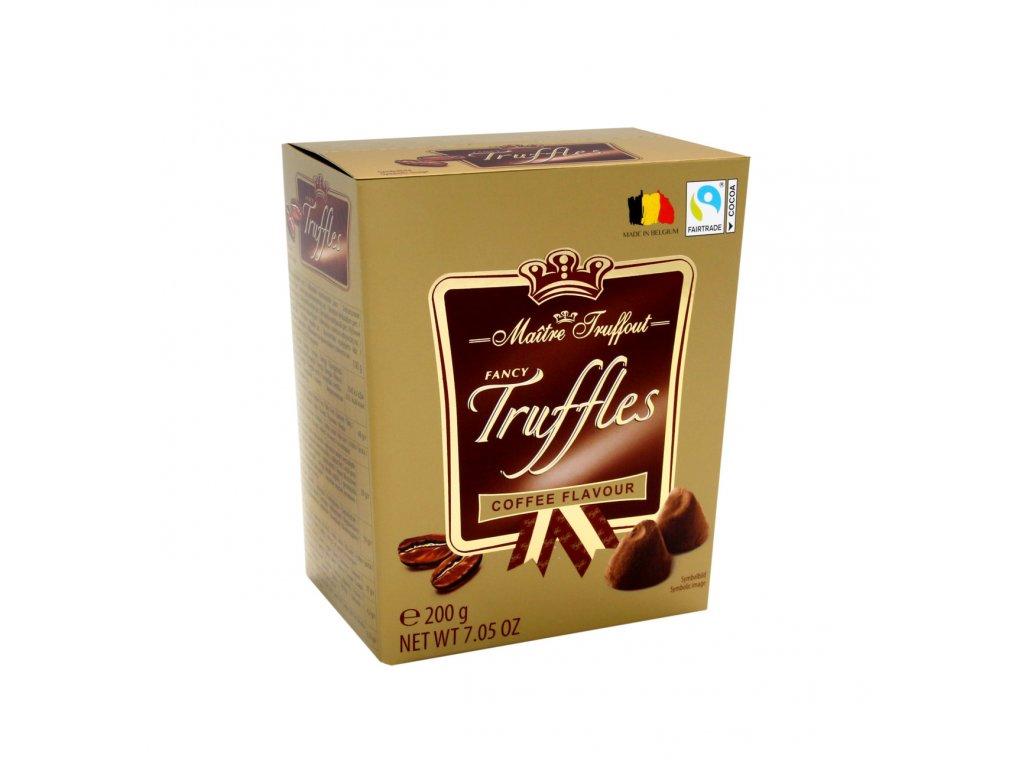 Maitre Truffout zlaté truffle s kávovou náplní 200g