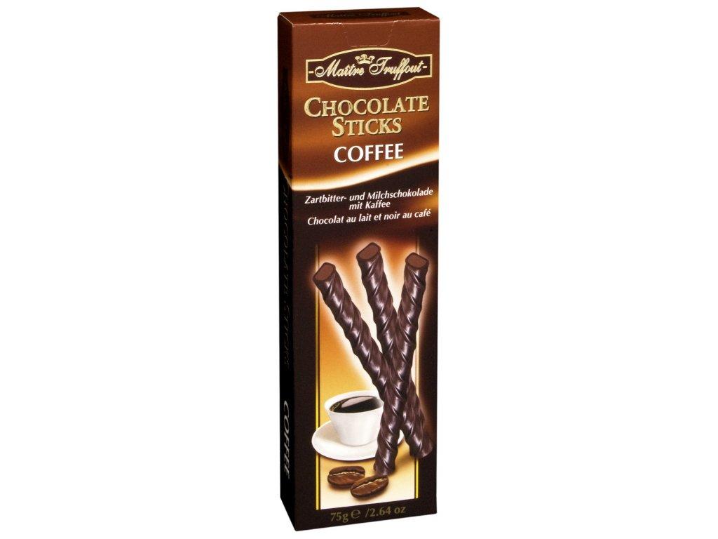 Maitre Truffout čokoládové tyčinky kávové 75g