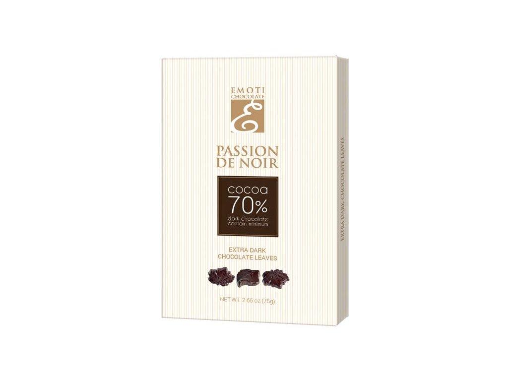 Emoti lístečky z hořké 70% čokolády 75g
