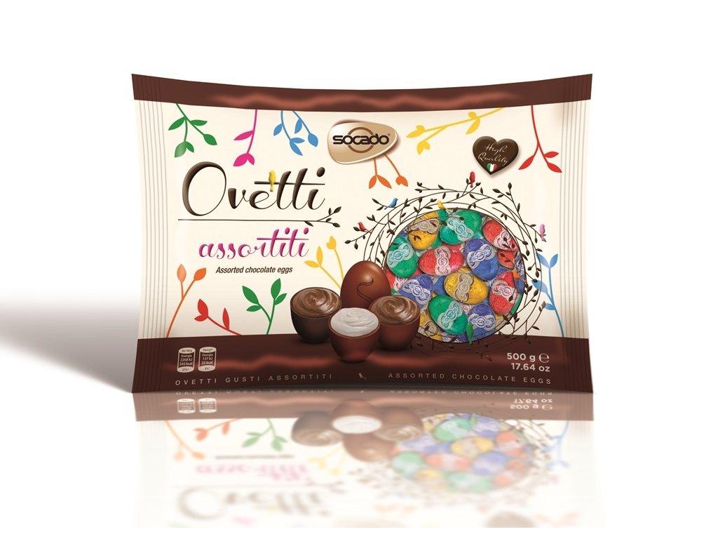 Socado Assortiti Ovetti Plněná čokoládová vajíčka 450g