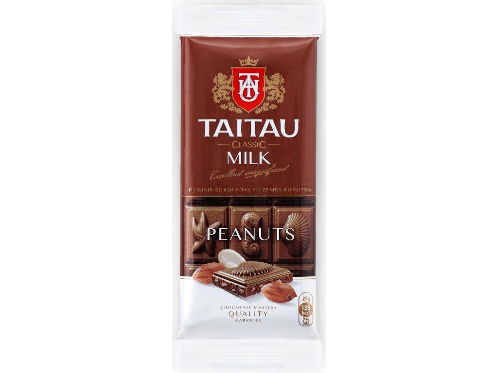 TaiTau Mléčná čokoláda s arašídy 35% 100g
