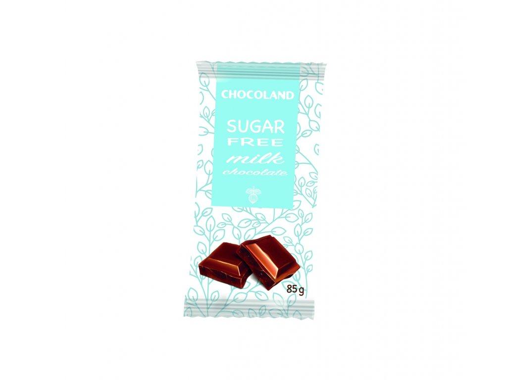 Chocoland Sugar free Mléčná čokoláda bez cukru 85g