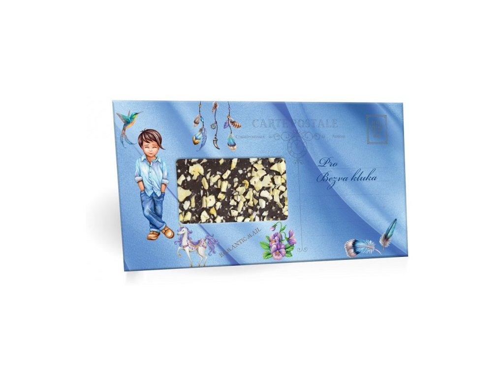 Pro bezva kluka Mléčná čokoláda s mandlemi 96g