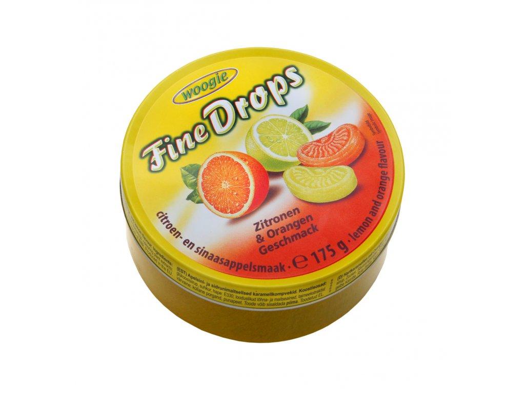 Woogie Pomerančové a citrónové bonbóny v plechové dóze 175g