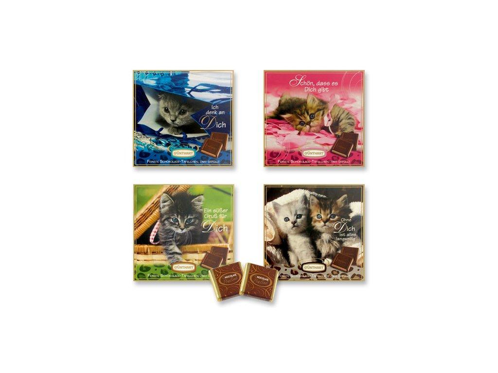 Čokoládový dárek Kotě 63g