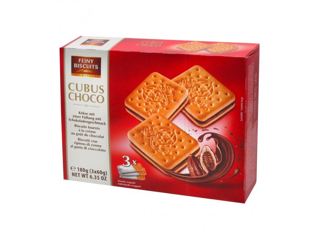 Feiny Slepované sušenky s čokoládovým krémem 180g
