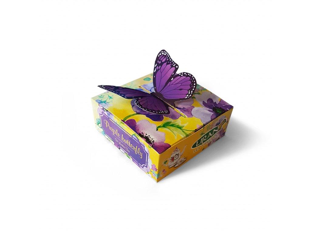 Liran Purple butterfly Dárkové balení čaje 5x1,5g